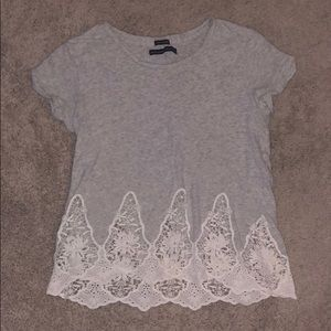 Abercrombie & Fitch Gray T-Shirt with Embroidery